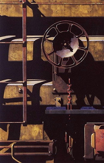 Robert Cottingham, Rolling Stock for Jesse 1992, Etching and Aquatint