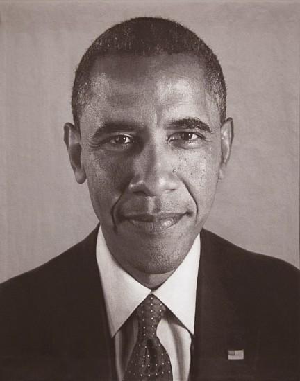Chuck Close, Obama 2012 (II) 2012, Jaquard Tapestry