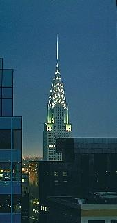 Christopher Evans, Chrysler Building, Nocturne 1993, Oil on Canvas