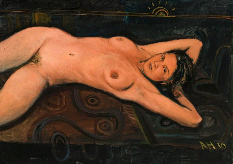 Anton Henning, Pin-Up No.157 2010, Oil on Canvas in Artist Frame