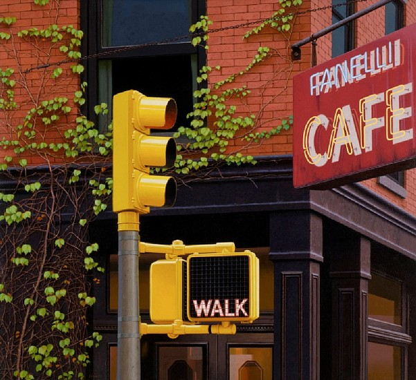 Gus Heinze, Fanelli Cafe 2000, Acrylic on Gessoed Panel