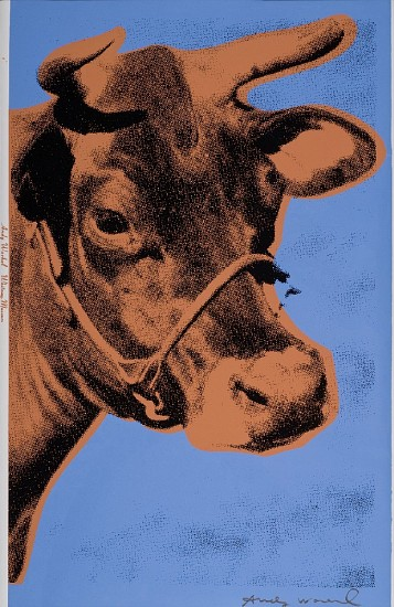 Andy Warhol, Cow 1971, Screenprint on Wallpaper