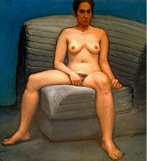 William Beckman, Study for a Classical Woman 1991, Oil on Panel