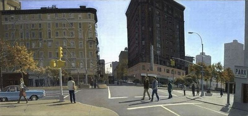 Rackstraw Downes, 69th Street and Broadway 1977, Oil on Canvas