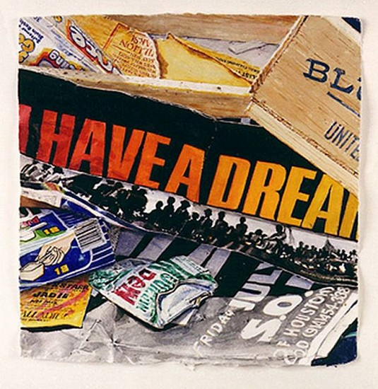 Idelle Weber, W.C. 12. 92. (I Have A Dream) 1992, Watercolor on Paper