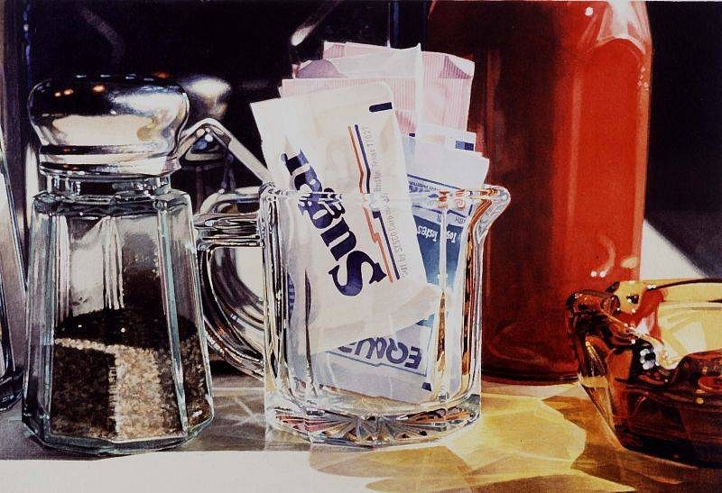 Ralph Goings, Sugar 1993, Watercolor on Paper