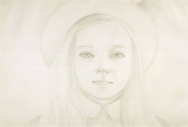 Alex Katz, Amanda I 1973, Pencil on Paper