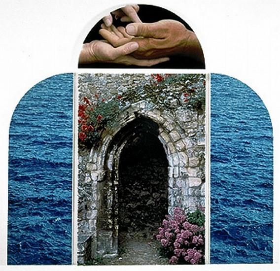 Don Eddy, Krishna's Gate 1995, Acrylic on Canvas  (in four panels)