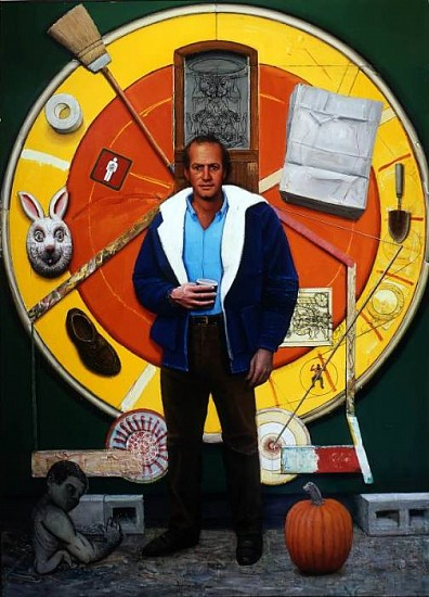 Gregory Gillespie, Rick and Large Mandala 1995 - 97, Oil and Alkyd on Board