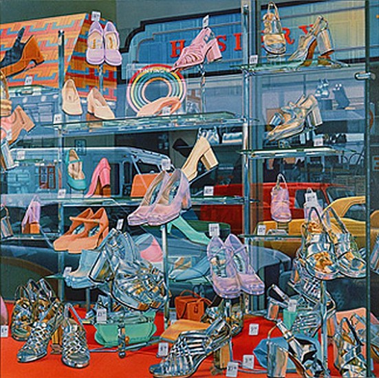Don Eddy, Silver Shoes 1972, Acrylic on Canvas