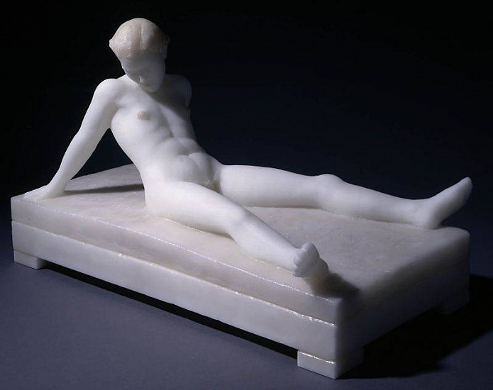 Nicolas Africano, Untitled (Reclining Nude) 1998, Cast Glass, Enamel Paint