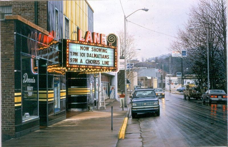 Davis Cone, Lane/Rainy Wintry Morning 2000, Acrylic on Canvas