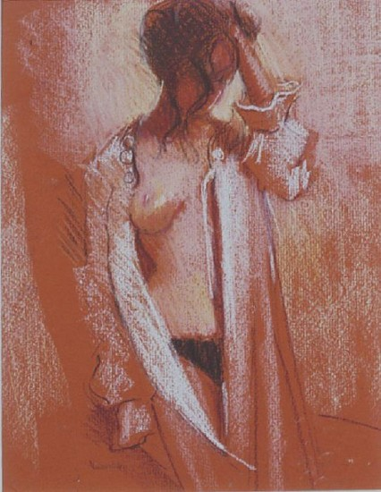 Lisa Yuskavage, Pajamas 2002, Pastel on Paper