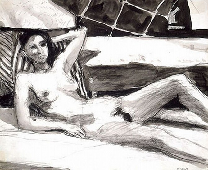 Richard Diebenkorn, Untitled (RD 850) 1965, Charcoal and Ink Wash on Paper