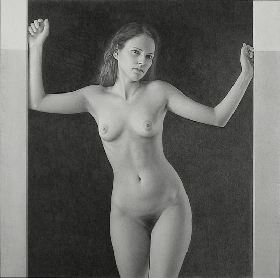 Richard Thomas Davis, Nude #2 1999, Graphite on Paper  (Fabriano Paper)