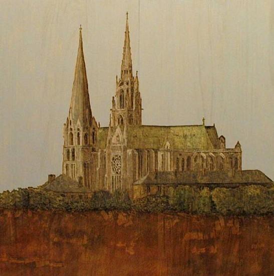 Stephan Balkenhol, Chartres 2003, Wawa-wood, Painted