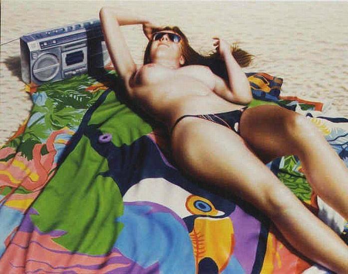 Hilo Chen, Beach #115 1989, Oil on Canvas