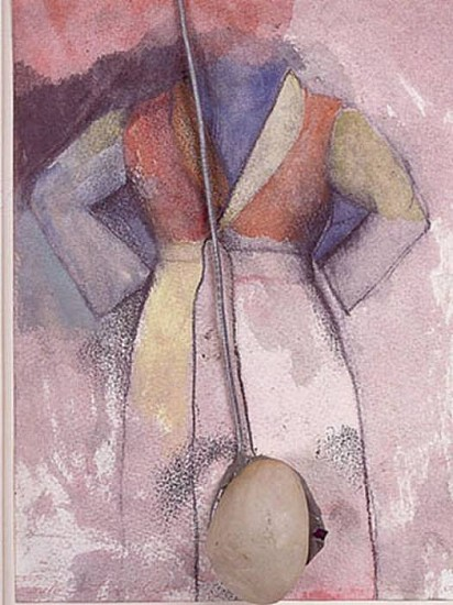 Jim Dine, Self Portrait 1964, Watercolor (with Stone and String)