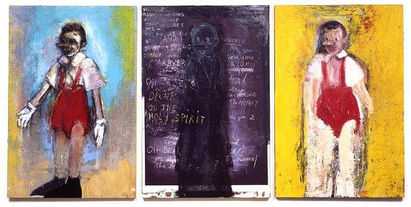 Jim Dine, Prayer on the Mirror 2004, Oil on Wood with Charcoal, Pastel, Acrylic