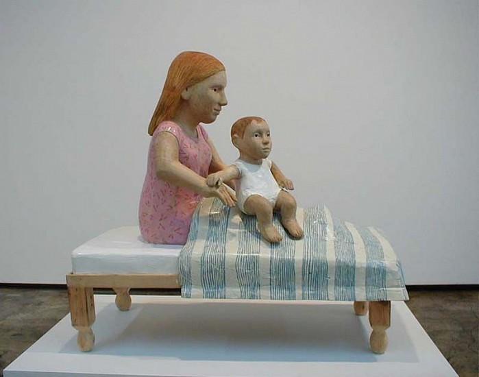 Claudette Schreuders, The Lover 2002, Jacaranda Wood, Enamel Paint