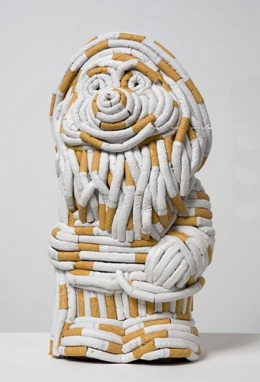 Sarah Lucas, Gnorman 2006, Plastic Cast Gnome and Cigarettes