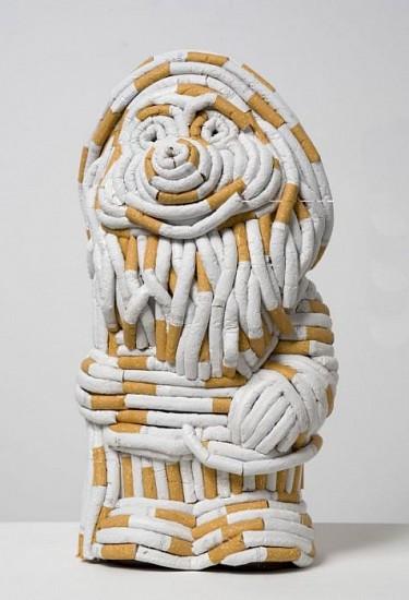 Sarah Lucas, Gnorman 2006, Plastic Cast Gnome and Cigarettes