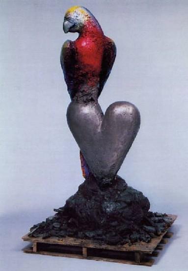 Jim Dine, King Parrot 1995, Bronze Patinated
