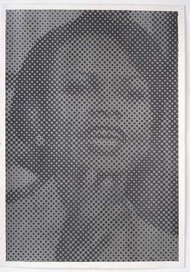 Wayne Gonzales, Untitled (Condoleezza Rice) 2004, Acrylic and Graphite on Paper