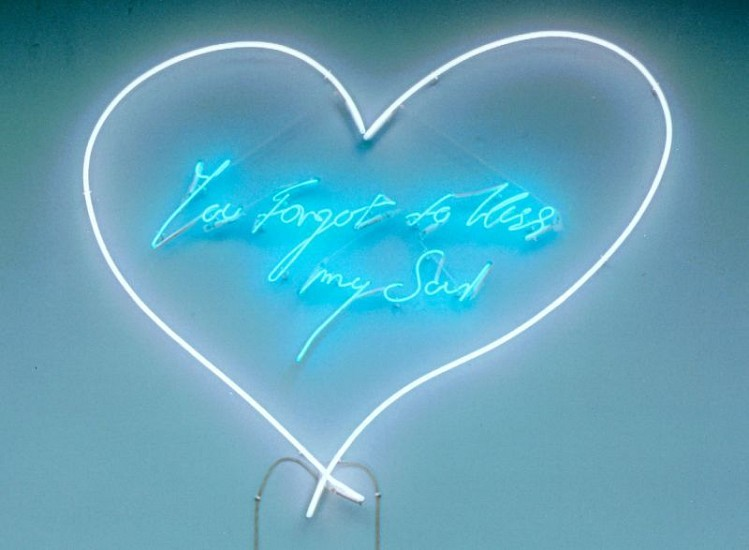 Tracey Emin, You Forgot to Kiss My Soul 2007, Pale Pink and White Neon