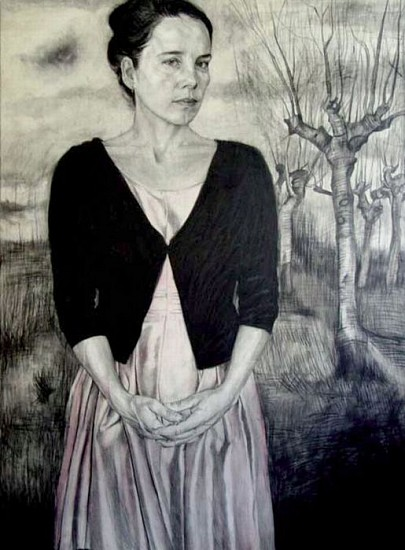 Jenny Scobel, Abroad 2007, Pencil, Watercolor and Wax on Gessoed Wooden Panel