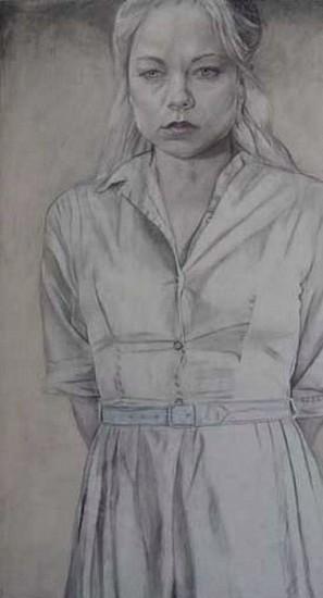 Jenny Scobel, Teressa 2007, Pencil, Watercolor and Wax on Gessoed Wooden Panel