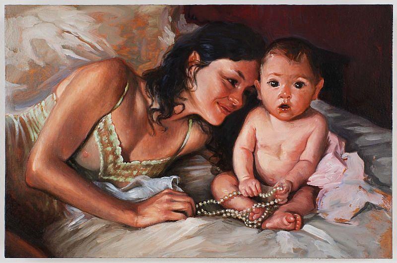 Delia Brown, Untitled 2008, Oil on Wood Panel