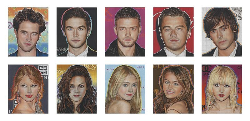 Richard Phillips, Most Wanted (Edition 7/10 - 10 prints) 2010, Giclee Prints on Somerset Enhanced 330gsm Paper