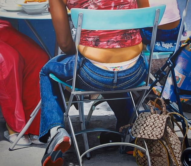Curt Hoppe, A Family Eats Breakfast 2005, Oil on Canvas