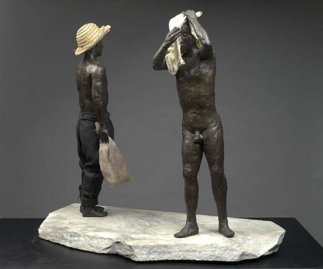 Nicolas Africano, The Bathers 1986-87, Bronze, Straw and Cloth