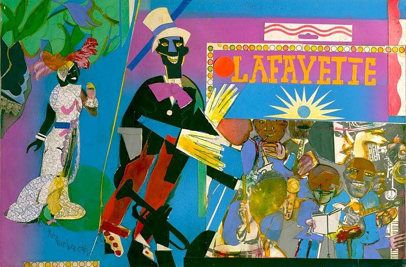 Romare Bearden, Johnny Hudgins Comes On, From Profile/Part II:The Thirties Series 1981, Collage & Mixed Media