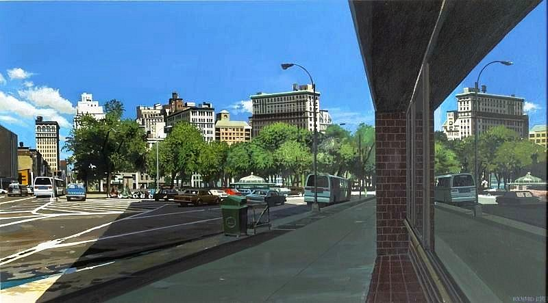 Richard Estes, Union Square Looking Northeast 1993, Acrylic on Board