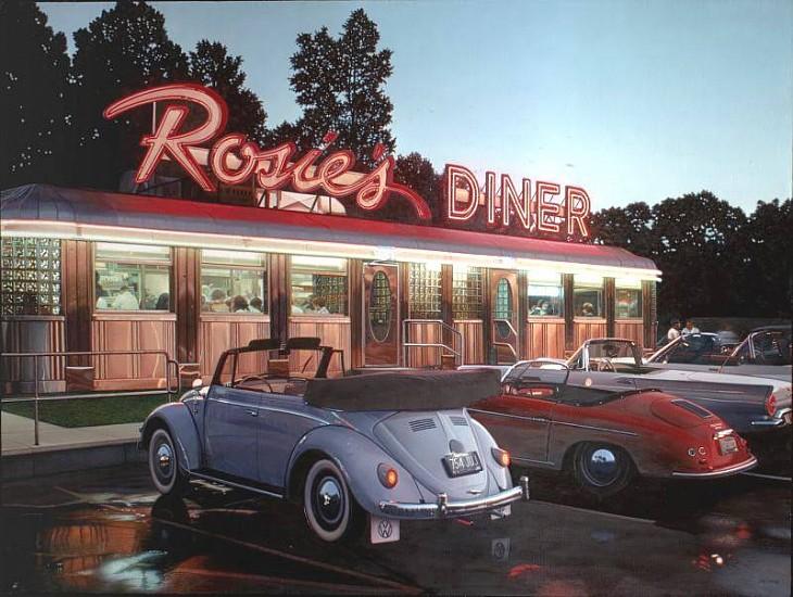 Robert Gniewek, Rosie's Diner #7 2004, Oil on Linen