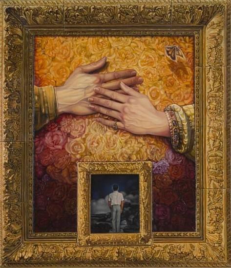 Juan Gonzalez, Rembrandt's Hands, Vermeer's Frame... 1990, Mixed Media