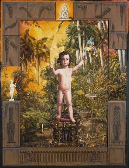 Juan Gonzalez, Memory Piece 1990, Oil on Wood and Silk Mounted on Honeycomb Panel