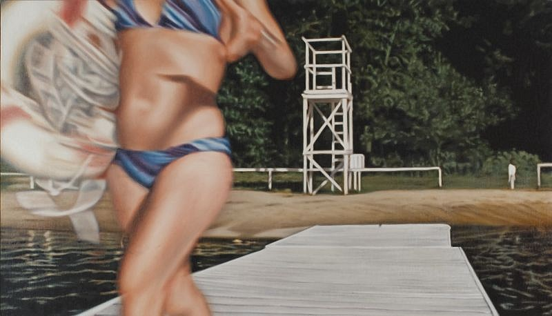Damian Loeb, I'm Getting to you... (very slowly) 2002, Oil on Linen