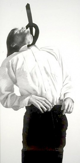 Robert Longo, Untitled, (from Men in the City series) 1982, Charcoal, Graphite & Ink on Paper