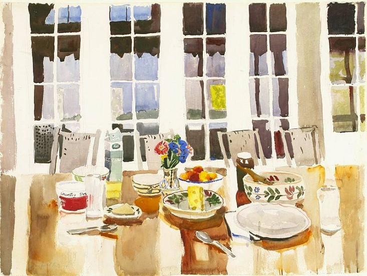 Fairfield Porter, Still Life 1975, Watercolor on Paper