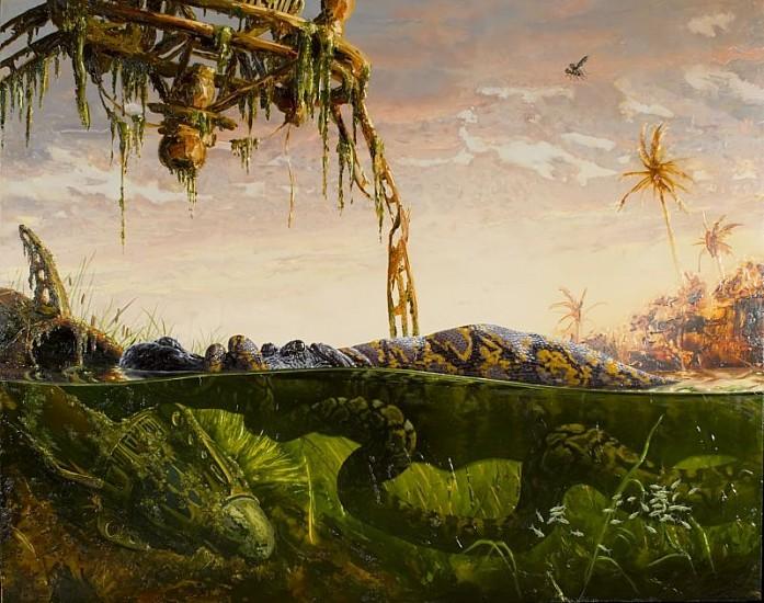 Alexis Rockman, Disneyworld II 2005, Oil on Wood