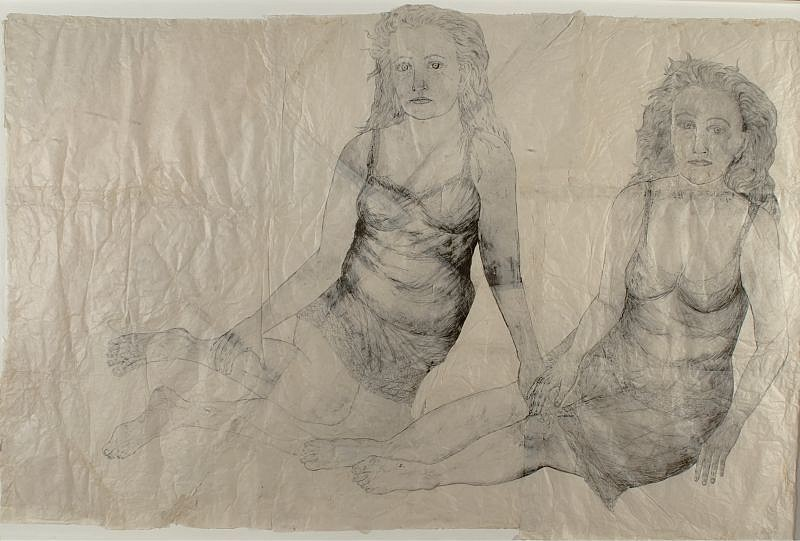 Kiki Smith, Now 2005, Collage, Ink on Nepal Paper