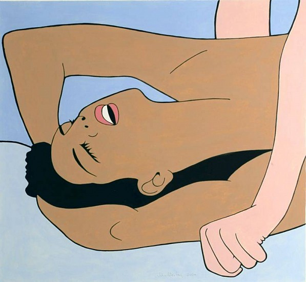 John Wesley, Untitled (Brown Woman with Mouth Open) 2004, Acrylic on Paper