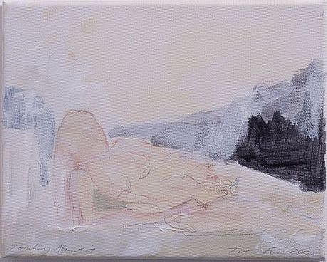 Tracey Emin, Thinking About It 2006, Acrylic on Canvas
