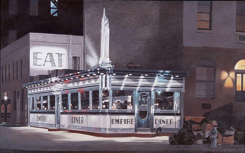 John Baeder, Empire Diner 1999, Oil on Canvas
