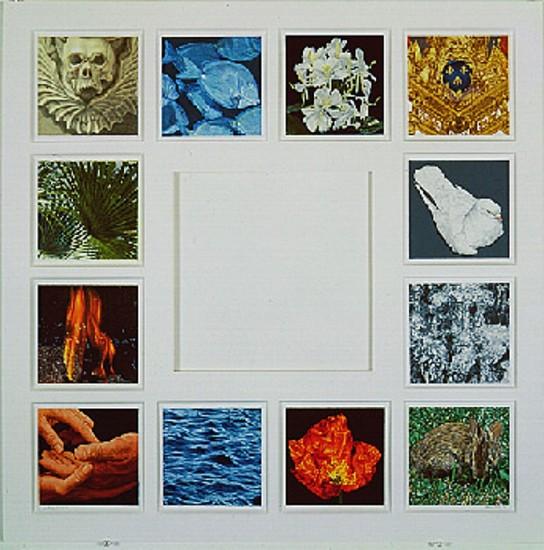 Don Eddy, Catena Aurea (The Golden Chain) 1996, Colored Pencil on Paper