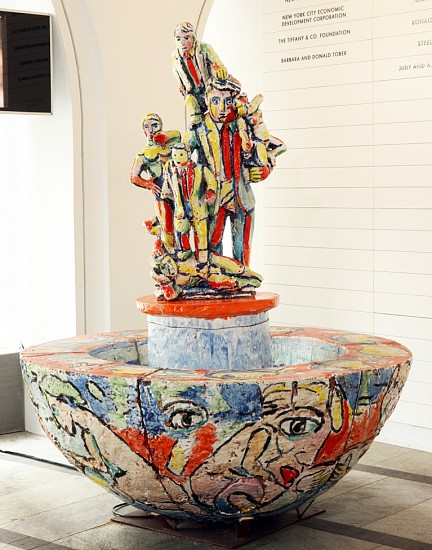 Viola Frey, Western Civilization Fountain 1996, Ceramic
